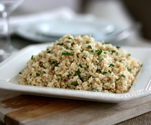 Thumbnail image for Herbed Brown Rice Inspired by April Bloomfield {recipe} – This Isn't Meant to be Racial