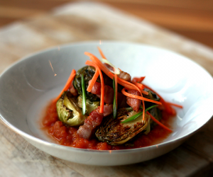 Thumbnail image for Momofuku Brussels Sprouts with Kimchi and Bacon {recipe} – Le Lapin that Was 2011