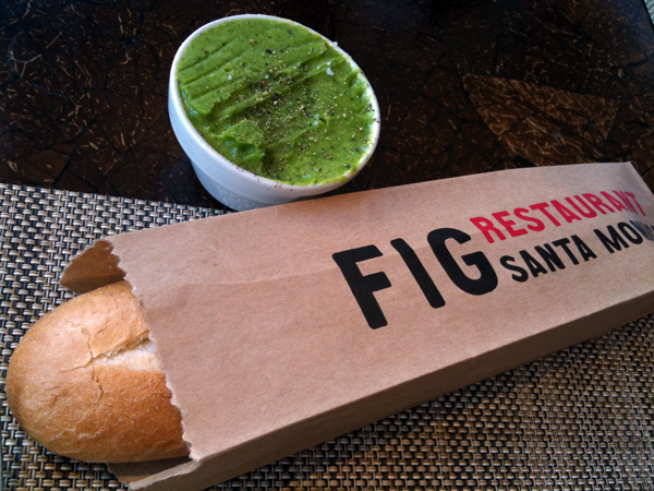 Fig at Fairmont - Bread and Arugula Butter