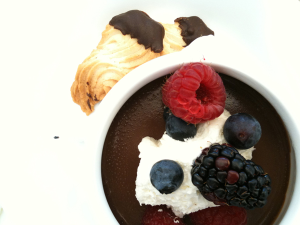 FIG at Fairmont - Chocolate Pudding and Fresh Berries