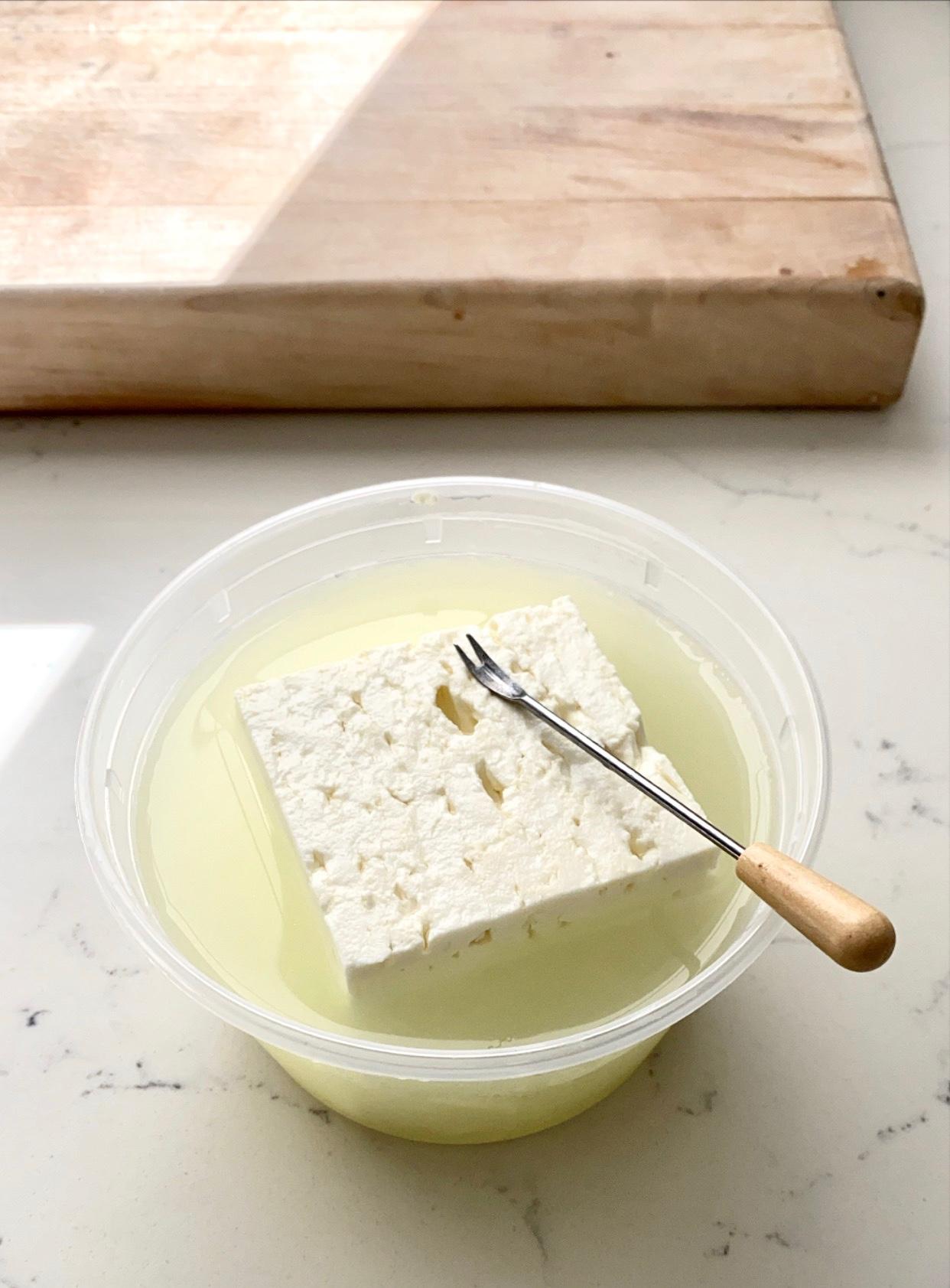 feta cheese in brine